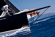 Bella Mente sailing in the  Corfu Challenge, day five.