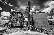 Abandoned Purina animal feed mill in Richfield, NC.