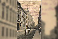 Zagreb (Croatie) : Nikolićeva ulica.<br />  <br /> ImpresumZagreb : Naklada A. Brusine, [1905].<br /> Materijalni opis1 razglednica : tisak ; 13,8 x 8,8 cm.<br /> SuradnikMosinger, Rudolf(1865.–1918.)<br /> NakladnikTiskara A. Brusina<br /> Mjesto izdavanjaZagreb<br /> Vrstavizualna građa • razglednice<br /> ZbirkaGrafička zbirka NSK • Zbirka razglednica<br /> Formatimage/jpeg<br /> PredmetZagreb –– Nikole Tesle<br /> SignaturaRZG-TESL-2<br /> Obuhvat(vremenski)20. stoljeće<br /> NapomenaRazglednica je putovala 1909. godine. • Poleđina razglednice namijenjena je samo za adresu. • Razglednica je tiskana po fotografiji R. Mosingera.<br /> PravaJavno dobro<br /> Identifikatori000953902<br /> NBN.HRNBN: urn:nbn:hr:238:016914 <br /> <br /> Izvor: Digitalne zbirke Nacionalne i sveučilišne knjižnice u Zagrebu