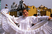 PERU, TRUJILLO, FESTIVALS Tribute to Flag Parade; dancer