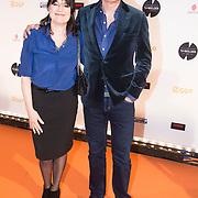 NLD/Amsterdam/20140303 - Uitreiking TV Beelden 2014, Robert ten brink en partner Roos Cialona