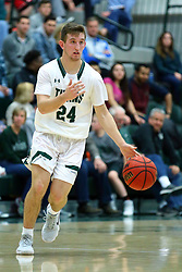 17 November 2017:  Brant Wolfe during an College men's division 3 CCIW basketball game between the Alma Scots and the Illinois Wesleyan Titans in Shirk Center, Bloomington IL