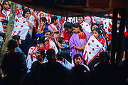 """Acteàl (Chenalho), commemorative ceremony of """"Las Abeyas"""", surviving maya of the massacre by paramilitary groups, December 22, 1997."""
