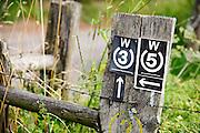 Wanderweg Markierung bei Wald-Michelbach, Odenwald, Hessen, Deutschland | walking trail in Wald-Michelbach, Odenwald, Hesse, Germany