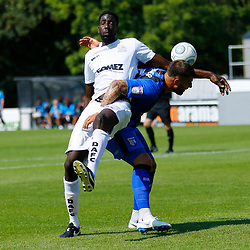 during thepre season friendly match between Dover Athletic and Gillingham FC at Crabble Stadium, Kent on 21 July 2018. Photo by Matt Bristow.