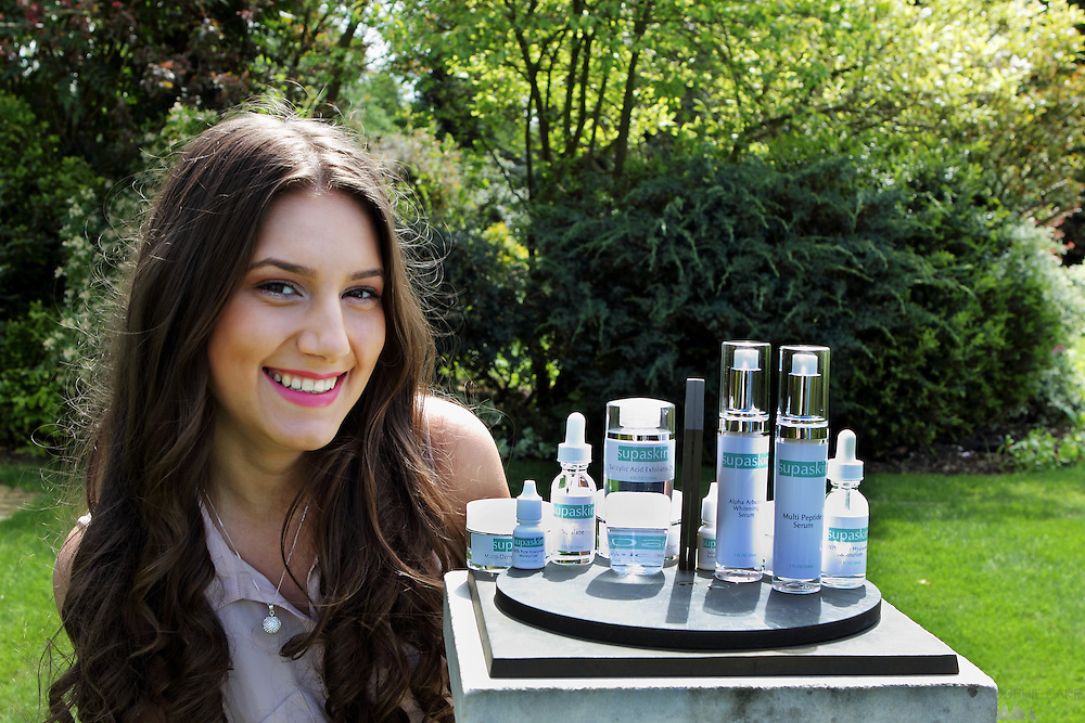 Photos from skincare brand Supaskin photoshoot in May 2012, with model Roxana Patroi