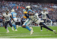 American Football - 2018 NFL Season (NFL International Series, London Games) - Tennessee Titans vs. Los Angeles Chargers<br /> <br /> Logan Ryan of the Titans tackles Mike Williams of the Chargers trying to touch down, at Wembley Stadium.<br /> <br /> COLORSPORT/ANDREW COWIE