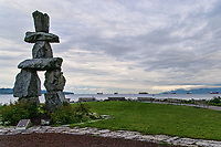 Inukshuk Statue & English Bay