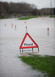 © Licensed to London News Pictures. 27/11/2012..Teesside, England..Following a further night of heavy rain parts of Teesside remain underwater and is causing road closures and localised flooding...Photo credit : Ian Forsyth/LNP