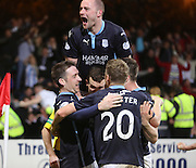 Paul Heffernan celebrates his goal with James McPake, Paul McGinn and Paul McGowan - Dundee v Dundee United - SPFL Premiership at Dens Park<br /> <br />  - &copy; David Young - www.davidyoungphoto.co.uk - email: davidyoungphoto@gmail.com