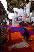 """Venice, Italy. 14th Architecture Biennale 2014, """"fundamentals"""".<br /> Arsenale.<br /> Chile exhibition. """"Monolith Controversies""""."""