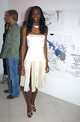Model ANTOINETTE WILLIAMS at the Art Plus Dance Party 2005 - an evening of live dance, film and partying held at the Whitechapel Art Gallery, 80-82 Whitechapel High Street, London on 21st March 2005.<br />