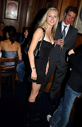 MISS ANOUSHKA DE GEORGIOU at a party hosted by Tatler magazine to celebrate the publication of the 2004 Little Black Book held at Tramp, 38 Jermyn Street, London SW1 on 10th November 2004.<br />