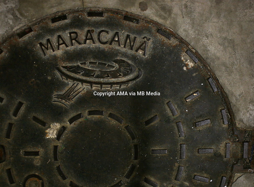 A man hole cover in the Estadio do Maracana stadium - Estadio Jornalista Mario Filho - ost venue of the FIFA 2014 World Cup