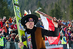 Adam MALYSZ of Poland greeting fans during Flying Hill Individual Final Round at 4th day of FIS Ski Jumping World Cup Finals Planica 2011, on March 20, 2011, Planica, Slovenia. (Photo By Matic Klansek Velej / Sportida.com)