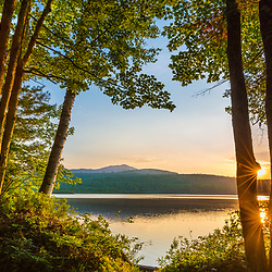 Sunrise over Silver Lake in Piscataquis County, Maine. Near Greenville.