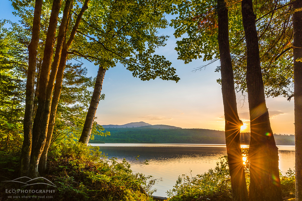 Sunrise over Silver Lake in Piscataquis County, Maine. Near Greenville.