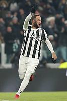 20.12.2017 - Torino - Tim Cup - Coppa Italia   -  Juventus-Genoa nella  foto: Gonzalo Higuain esulta dopo il gol del 2 a 0