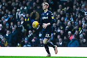 Will Huffer of Leeds United (13) looks to roll the ball out during the EFL Sky Bet Championship match between Leeds United and Bristol City at Elland Road, Leeds, England on 24 November 2018.