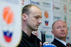 Jure Zdovc and Dusan Sesok at press conference when announced that Zdovc is a new Slovenian Head coach of Basketball National team, on November 25, 2008 in City Hotel, Ljubljana, Slovenia.  (Photo by Vid Ponikvar / Sportida).