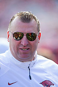 LITTLE ROCK, AR - OCTOBER 18:  Head Coach Bret Bielema of the Arkansas Razorbacks before a game against the Georgia Bulldogs at War Memorial Stadium on October 18, 2014 in Little Rock, Arkansas.  The Bulldogs defeated the Razorbacks 45-32.  (Photo by Wesley Hitt/Getty Images) *** Local Caption *** Bret Bielema