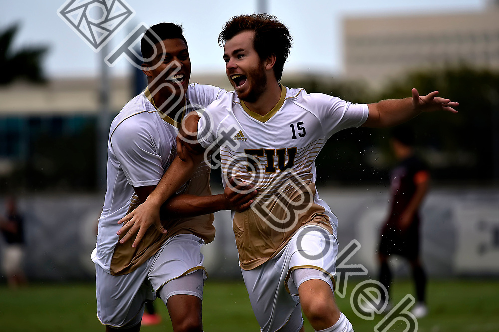 2017 September 03 - FIU's Inigo Sagarduy (15). FIU Men's Soccer defeated Charlotte, 3-2, at FIU Soccer Complex, Miami, Florida. (Photo by: Alex J. Hernandez / photobokeh.com) This image is copyright by PhotoBokeh.com and may not be reproduced or retransmitted without express written consent of PhotoBokeh.com. ©2017 PhotoBokeh.com - All Rights Reserved