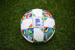 CARDIFF, WALES - Tuesday, September 4, 2018: The Adidas Nations League match ball during a training session at the Vale Resort ahead of the UEFA Nations League Group Stage League B Group 4 match between Wales and Republic of Ireland. (Pic by David Rawcliffe/Propaganda)
