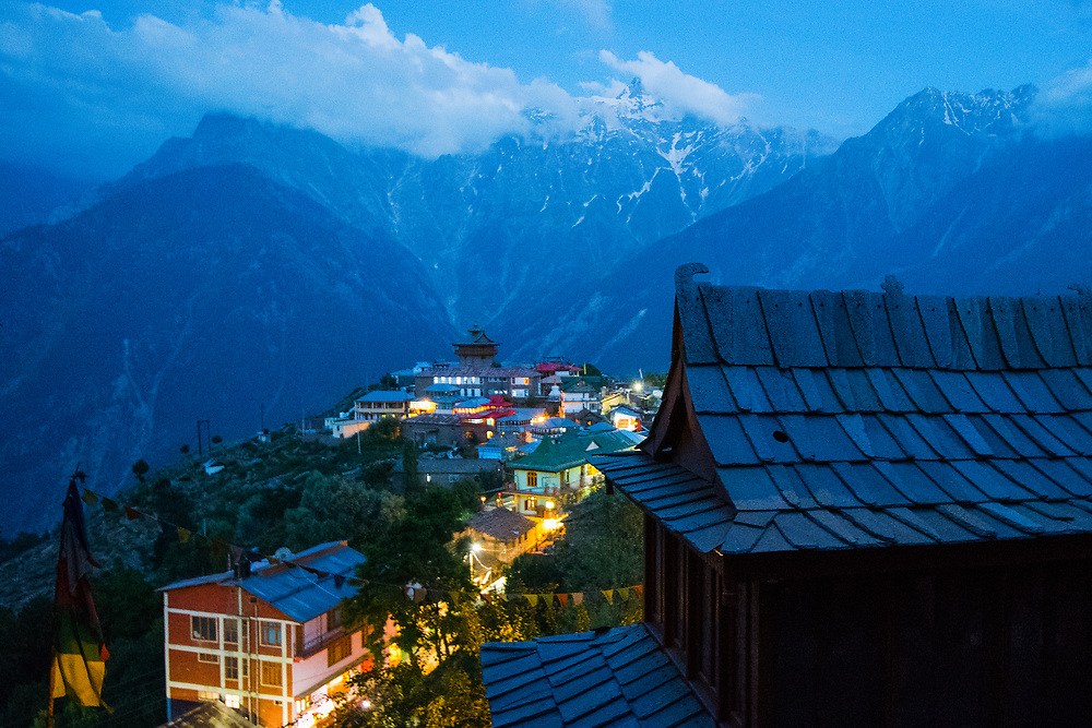 One would not be mistaken in believing mother nature had adopted this tiny village of Kalpa and nurtured its natural beauty at its very best. <br /> <br /> Known for its apple orchards, slopes decorated with pine trees and majestic snow capped mountains filling up the background, it's an abode of nature's beauty. Since it is not a popular tourist destination, the village has maintained its natural untouched beauty. <br /> <br /> The soothing silence of the valley and its virgin charm energises tired travellers ( as the road leading to kalpa is among the most treacherous I have been on ). <br /> <br /> Kalpa is blessed with fantastic view of Kailash range - Roldang 5499 meter, Jarkanden 6473 meter and the Kinnaur Kailash at 6050 meter height. Among which, Kinnaur Kailash is the most significant one, worshipped by both Hindus and Buddhists and often serves as a huge pilgrimage site for believers, who do a three day ascent to summit of Kailash to offer prayers to the huge monolithic pillar on top of the summit. <br /> <br /> This place is pure and untapped as far as its tourism potential goes. It's simply the Switzerland of India. I'm glad I made my visit, though it wasn't part of my plan and stayed here overnight to enjoy the magnificent vistas of this wonderland. <br /> <br /> Nikon D5 | Tamron 15-30<br /> <br /> Kalpa | Himachal Pradesh | India