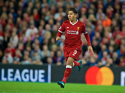 LIVERPOOL, ENGLAND - Wednesday, August 23, 2017: Liverpool's Roberto Firmino during the UEFA Champions League Play-Off 2nd Leg match between Liverpool and TSG 1899 Hoffenheim at Anfield. (Pic by David Rawcliffe/Propaganda)