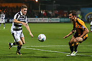 Forest Green Rovers William Randall(19) on the ball during the EFL Sky Bet League 2 match between Cambridge United and Forest Green Rovers at the Cambs Glass Stadium, Cambridge, England on 26 September 2017. Photo by Shane Healey.