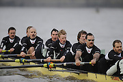Putney, GREAT BRITAIN,  Crew Personality. left to right, Bow Dan SHAUGHNESSY, 2. Shane O'MARA, 3. John CLAY, 4. Ryan MONAGHAN, 5. Fred GILL, 6. Deaglan McEACHERN, 7. Hardy CUTBASCH, stroke,. Rob WEITEMAYER and cox Rebecca DOWBIGGIN.during the 2008 Varsity/Cambridge University Trial Eights, raced over the championship course. Putney to Mortlake, Tue. 16.12.2008. [Mandatory Credit, Peter Spurrier/Intersport-images Varsity Boat Race, Rowing Course: River Thames, Championship course, Putney to Mortlake 4.25 Miles,