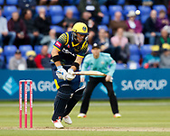 Glamorgan's Colin Ingram is caught by Surrey's Gareth Batty<br /> <br /> Photographer Simon King/Replay Images<br /> <br /> Vitality Blast T20 - Round 14 - Glamorgan v Surrey - Friday 17th August 2018 - Sophia Gardens - Cardiff<br /> <br /> World Copyright &copy; Replay Images . All rights reserved. info@replayimages.co.uk - http://replayimages.co.uk