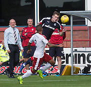 Dundee's Kevin Holt and Rangers' James Tavernier - Dundee v Rangers, Ladbrokes Scottish Premiership at Dens Park<br /> <br />  - © David Young - www.davidyoungphoto.co.uk - email: davidyoungphoto@gmail.com