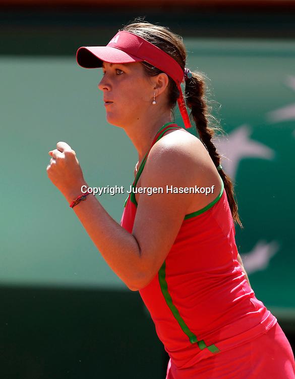 French Open 2011, Roland Garros,Paris,ITF Grand Slam Tennis Tournament, Anastasia Pavlyuchenkova (RUS) macht die Faust und jubelt,Jubel,Emotion,