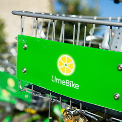 092618 - Lime Bikes in Downtown Reno for The Nevada Independent