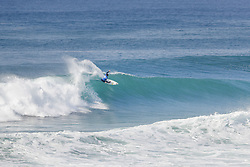 October 12, 2017 - Wildcard Marc Lacomare of France advanced to Round Three of the 2017 Quiksilver Pro France after causing a major upset by defeating title contender Julian Wilson of Australia in Heat 1 of Round Two at Hossegor. (Credit Image: © WSL via ZUMA Press)