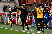 Exeter City manager Matt Taylor during the EFL Sky Bet League 2 match between Exeter City and Cambridge United at St James' Park, Exeter, England on 11 January 2020.