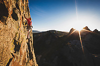 Paul Shilton learns to soar on Eagle Crack, 5.10, City of Rocks, Idaho.