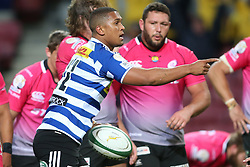 Leolin Zas of Western Province celebrates after scoring a try during the Currie Cup Premier Division match between the DHL Western Province and the Pumas held at the DHL Newlands rugby stadium in Cape Town, South Africa on the 17th September  2016<br /> <br /> Photo by: Shaun Roy / RealTime Images