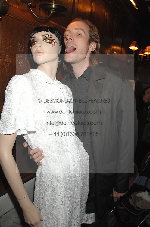 Actor RHYS IFANS at a tea party to launch Pearl Lowe's Spring 2007 fashion collection held at Libery, Great Marlborough Street, London on 20th March 2007.<br />