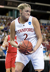 March 27, 2010; Sacramento, CA, USA; Stanford Cardinal forward/center Jayne Appel (2) during the first half against the Georgia Bulldogs in the semifinals of the Sacramental regional in the 2010 NCAA womens basketball tournament at ARCO Arena.  Stanford defeated Georgia 73-36. Stanford defeated Georgia 73-36.