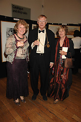 Left to right, JUDITH SHALLOW and SIR NICHOLAS & LADY GRIMSHAW he is President of the RA at a gala dinner for the Theatre Royal Bury St.Edmunds to celebrate the near completion of the restoration of the Grade 1 listed theatre, held at the Royal Academy, Piccadilly, London on 9th July 2007.<br /><br />NON EXCLUSIVE - WORLD RIGHTS