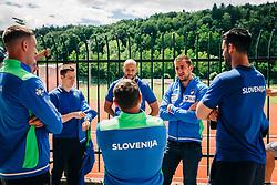 Nejc Cehte during meeting after COVID-19 of Slovenian handball national team at dvorana Kodeljevo on May 26th 2020, Ljubljana, Slovenia. Photo by Sinisa Kanizaj / Sportida