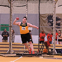 Dustin Todd in action during the 2018 Canada West Track & Field Championship on February  24 at James Daly Fieldhouse. Credit: Arthur Ward/Arthur Images