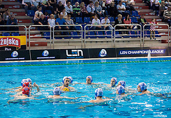Team Primorje during water polo match between Primorje Erste Bank (CRO) and Olympiacos Piraeus (GRE) in 8th Round of Champions League 2016, on April 16, 2016 in Kantrida pool, Rijeka, Croatia. Photo by Vid Ponikvar / Sportida