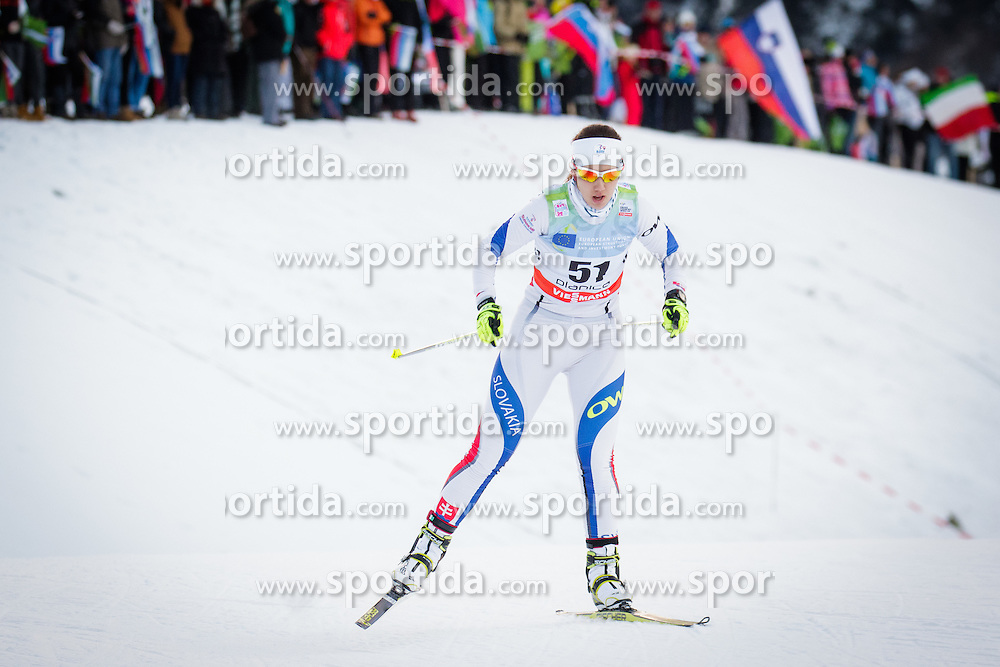 Barbora Klementova (SVK) during Ladies 1.2 km Free Sprint Qualification race at FIS Cross<br /> Country World Cup Planica 2016, on January 16, 2016 at Planica,Slovenia. Photo by Ziga Zupan / Sportida