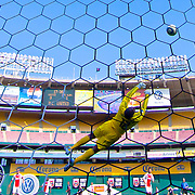 AFC Ajax Keeper Kenneth Vermeer (12) makes a diving save during the MLS International friendly match between AFC Ajax and D.C. United.<br />