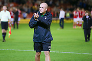 Nottingham Forest Manager Mark Warburton applauds the fans during the EFL Sky Bet Championship match between Barnsley and Nottingham Forest at Oakwell, Barnsley, England on 15 August 2017. Photo by Simon Davies.