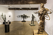 Laurence Edwards launches his sculpture exhibition at Mary Place Gallery, Sydney. A varied selection of bronzed figures-part of the Landscape, Evolution and Exploration.