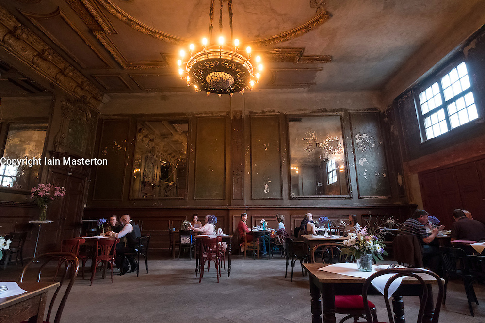 Interior of historic Clarchens ballroom cafe in Mitte Berlin Germany